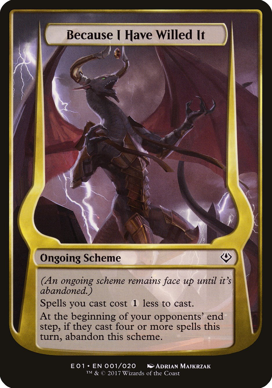 Carta Because I Have Willed It/Because I Have Willed It de Magic the Gathering