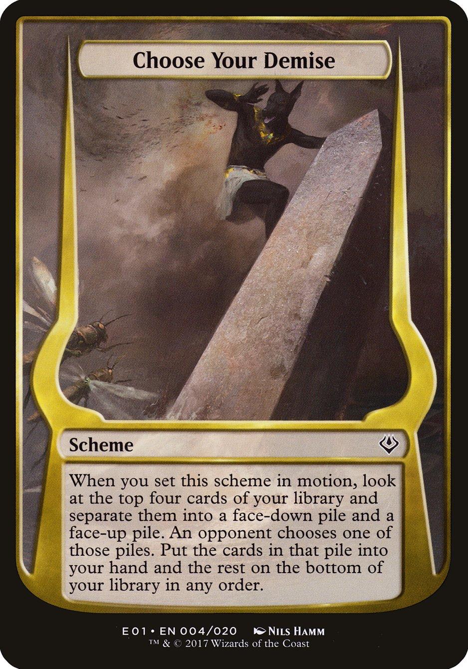 Carta Choose Your Demise/Choose Your Demise de Magic the Gathering