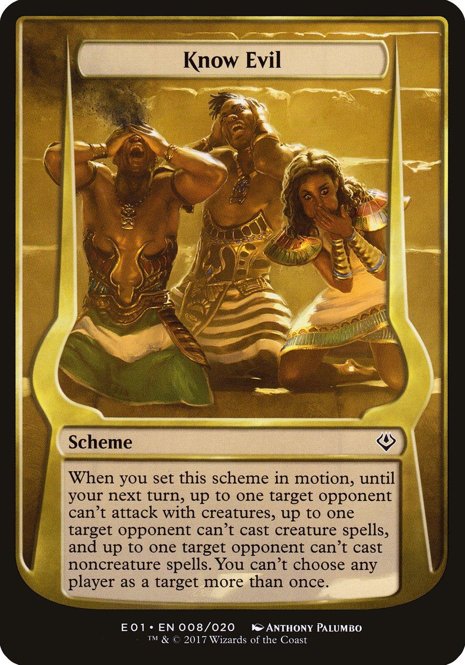 Carta Know Evil/Know Evil de Magic the Gathering