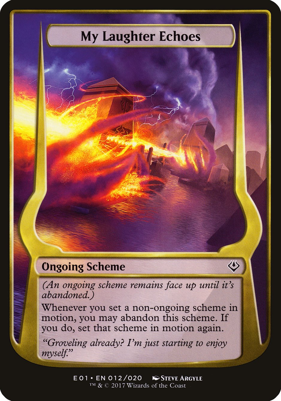 Carta My Laughter Echoes/My Laughter Echoes de Magic the Gathering