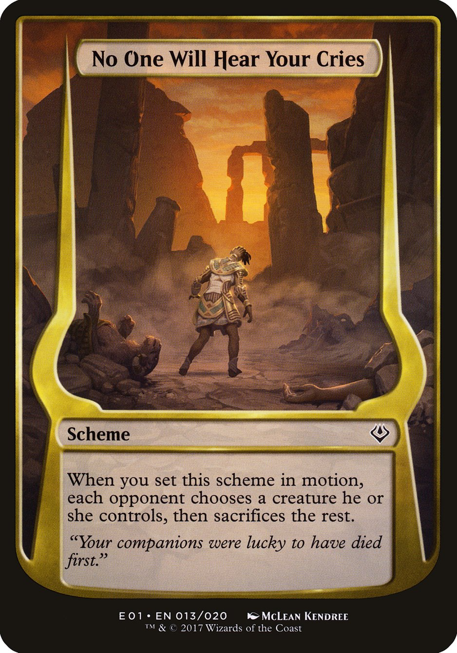 Carta No One Will Hear Your Cries/No One Will Hear Your Cries de Magic the Gathering