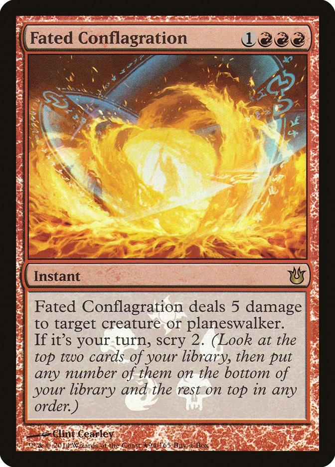 Carta Conflagração Predestinada/Fated Conflagration de Magic the Gathering