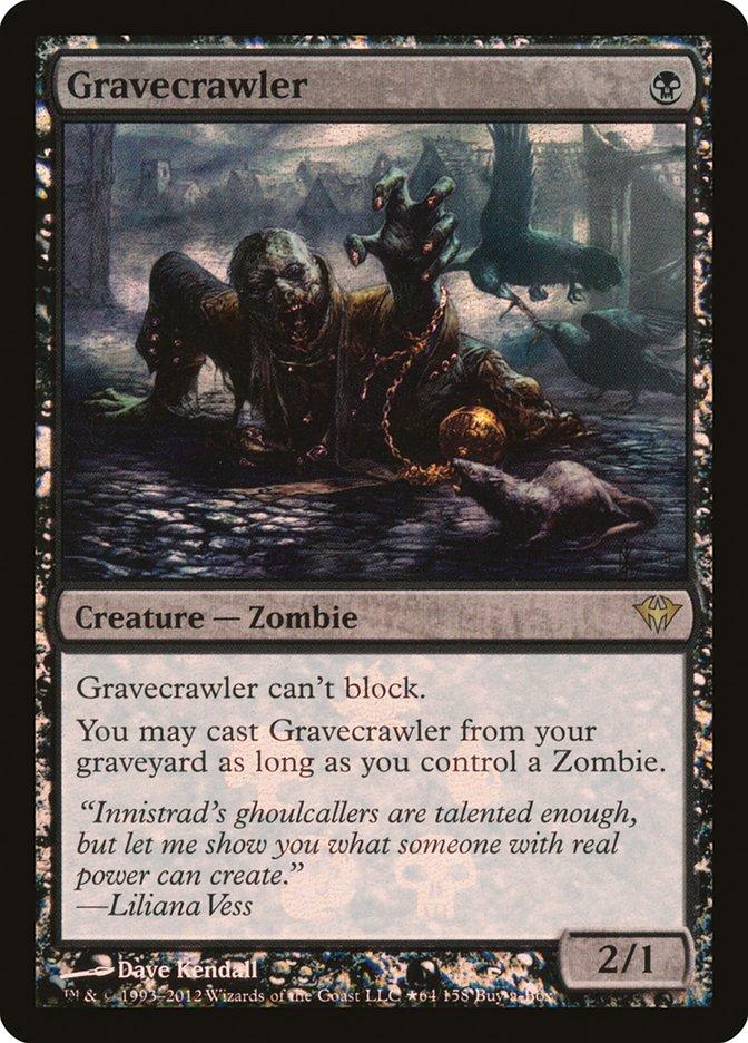 Carta Rastejador de Túmulo/Gravecrawler de Magic the Gathering