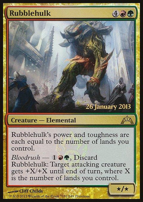 Carta Brutamontes de Escombros/Rubblehulk de Magic the Gathering