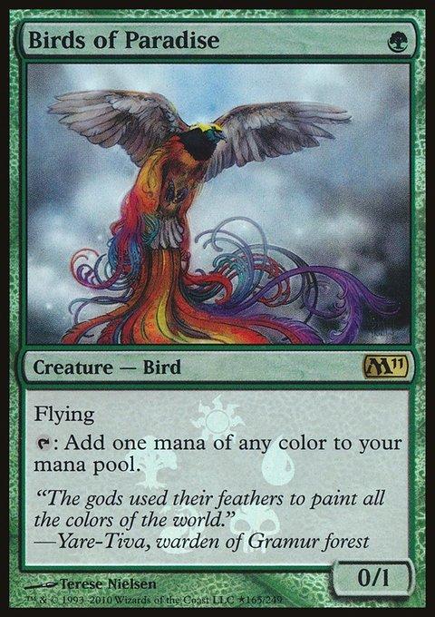 Carta Aves do Paraíso/Birds of Paradise de Magic the Gathering