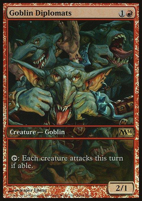 Carta Diplomatas Goblins/Goblin Diplomats de Magic the Gathering