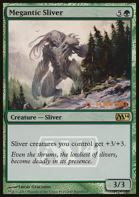 Carta Fractius Megântico/Megantic Sliver de Magic the Gathering