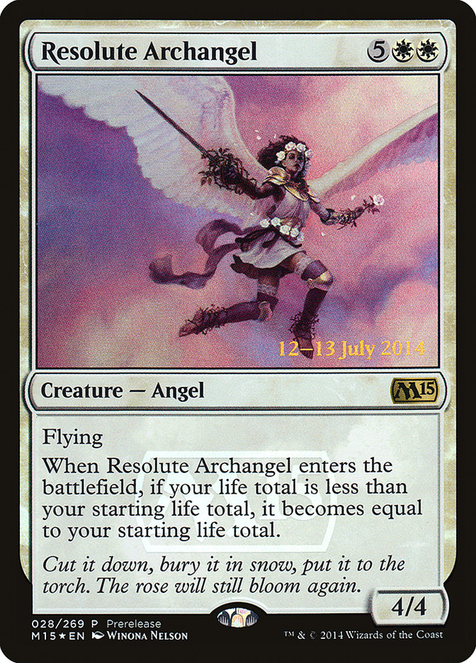Carta Arcanjo Resoluto/Resolute Archangel de Magic the Gathering