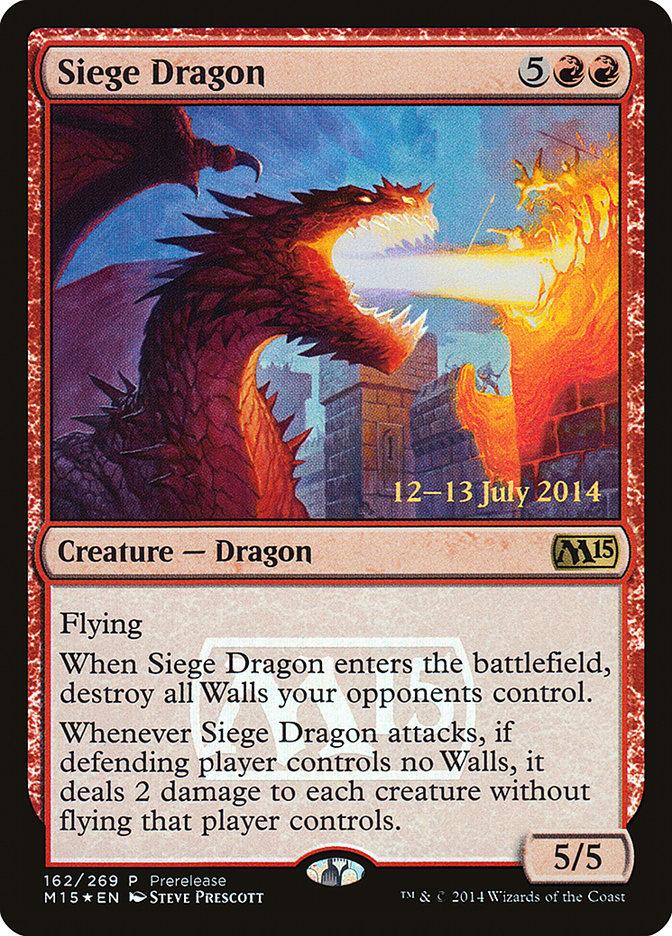 Carta Dragão de Cerco/Siege Dragon de Magic the Gathering