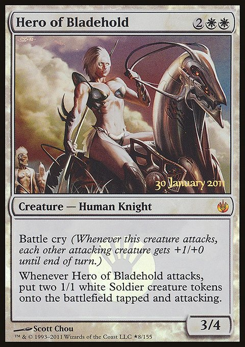 Carta Herói de Bladehold/Hero of Bladehold de Magic the Gathering
