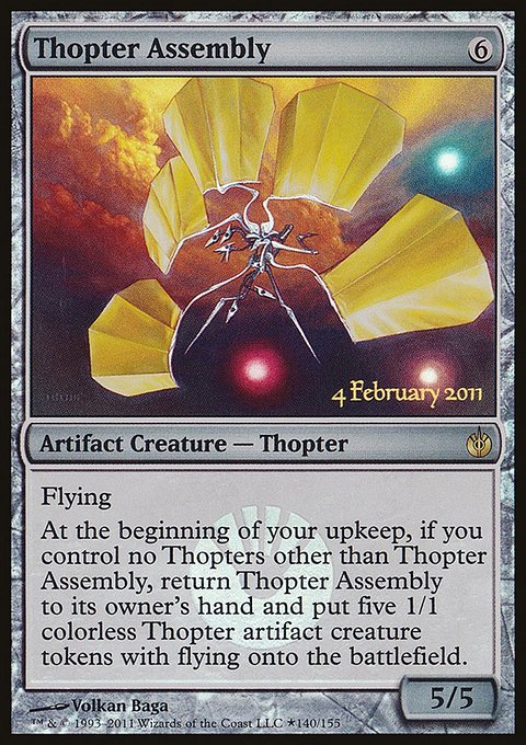 Carta Montagem de Tóptero/Thopter Assembly de Magic the Gathering