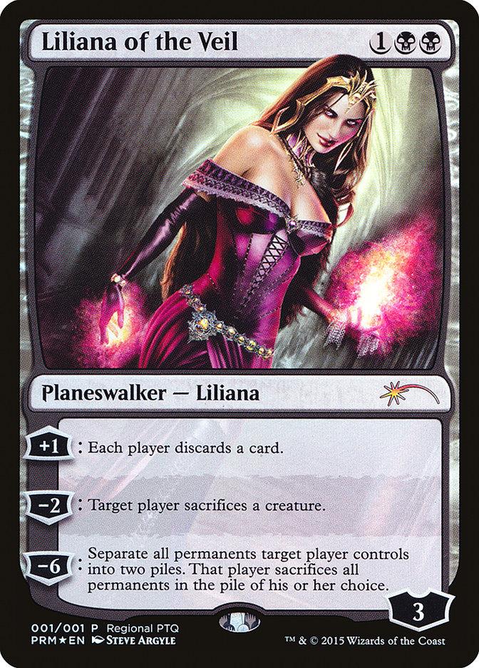 Carta Liliana do Véu/Liliana of the Veil de Magic the Gathering