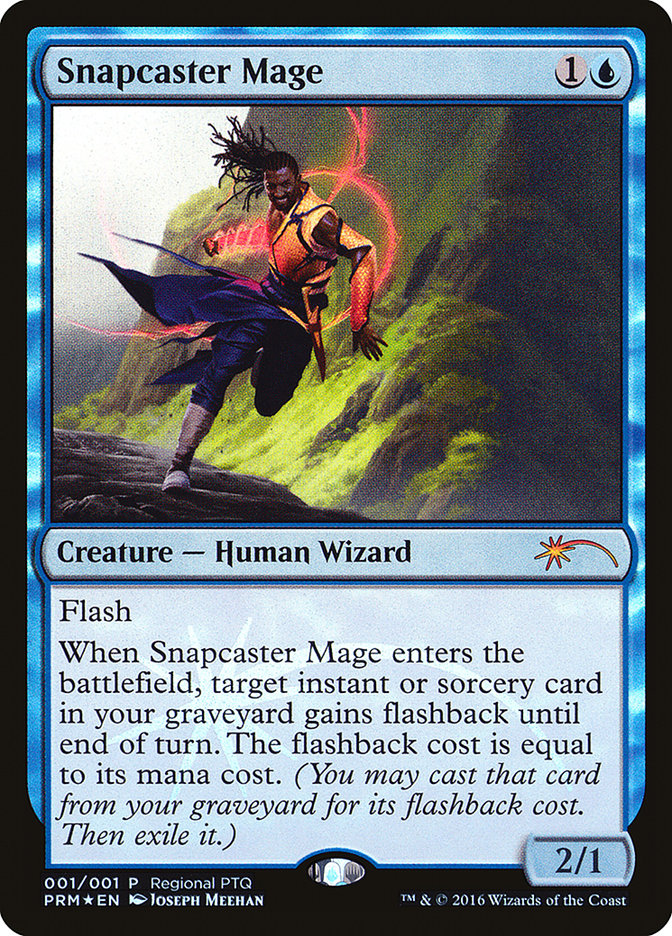 Carta Mago da Conjuração-relâmpago/Snapcaster Mage de Magic the Gathering