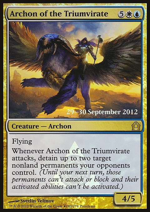 Carta Arconte do Triunvirato/Archon of the Triumvirate de Magic the Gathering