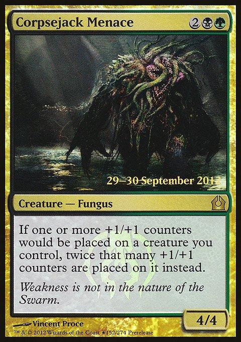 Carta Ameaça Guia de Cadáver/Corpsejack Menace de Magic the Gathering