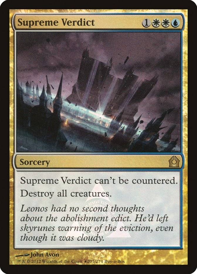 Carta Veredito Supremo/Supreme Verdict de Magic the Gathering