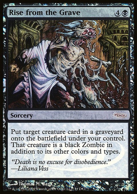 Carta Ressurgir da Cova/Rise from the Grave de Magic the Gathering