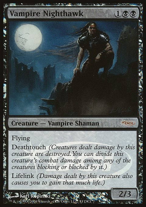 Carta Vampiro Falcão-da-Noite/Vampire Nighthawk de Magic the Gathering