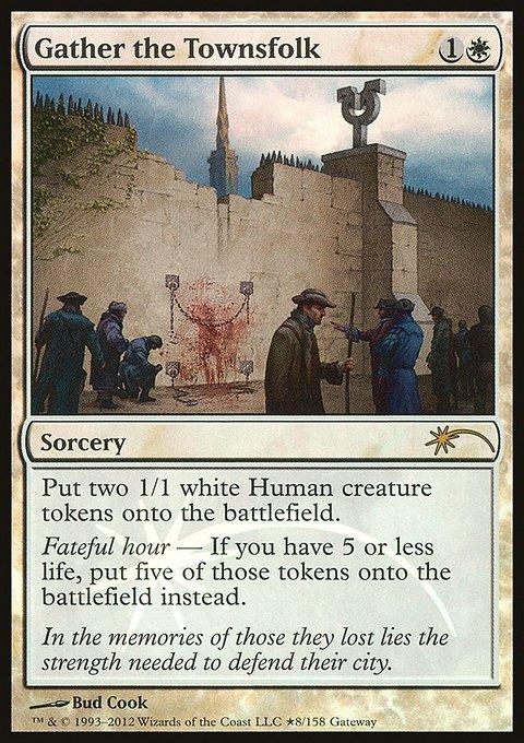 Carta Reunir o Povo/Gather the Townsfolk de Magic the Gathering