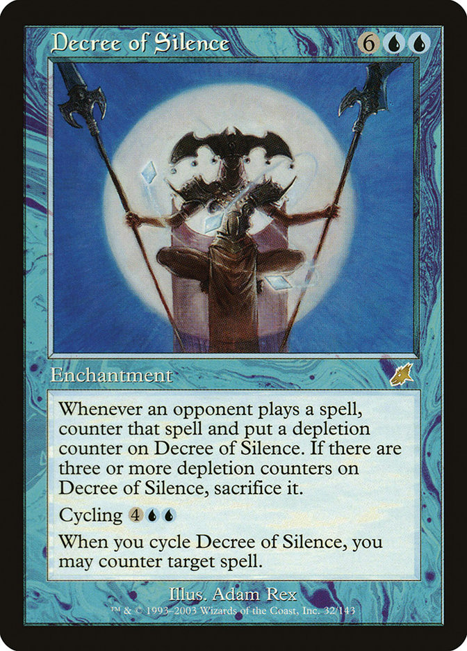 Carta Decreto de Silêncio/Decree of Silence de Magic the Gathering