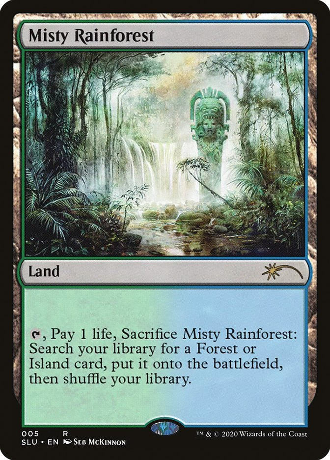 Carta /Misty Rainforest de Magic the Gathering