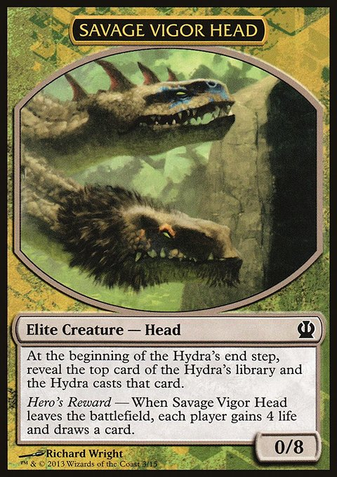 Carta /Savage Vigor Head de Magic the Gathering