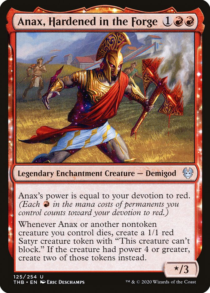 Carta Anax, Temperado na Forja/Anax, Hardened in the Forge de Magic the Gathering