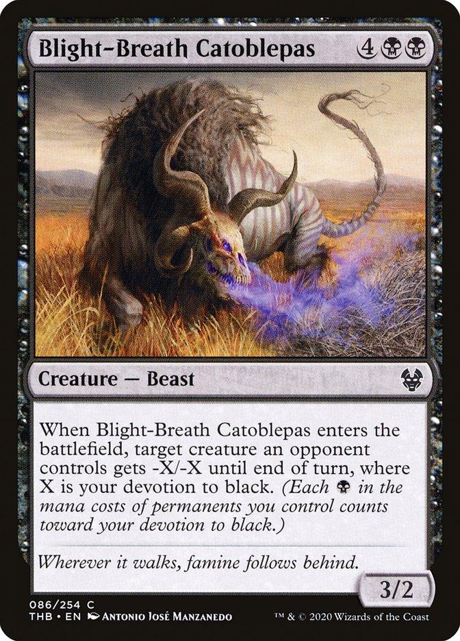 Carta Catoblepas Hálito-de-praga/Blight-Breath Catoblepas de Magic the Gathering