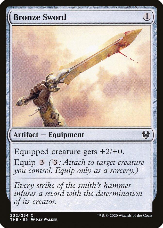 Carta Espada de Bronze/Bronze Sword de Magic the Gathering