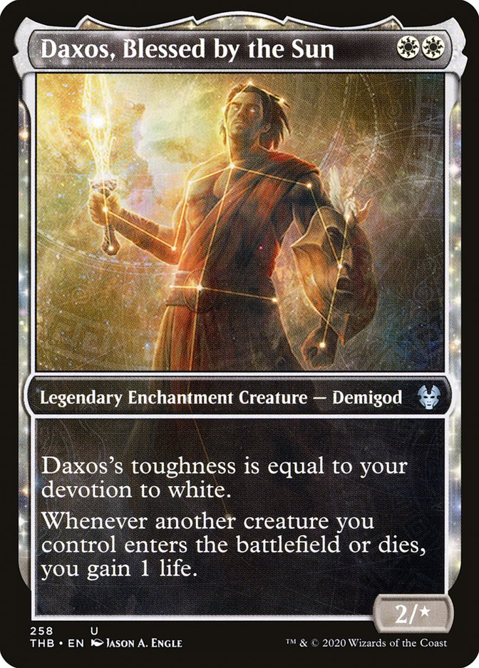 Carta Daxos, Abençoado pelo Sol/Daxos, Blessed by the Sun de Magic the Gathering