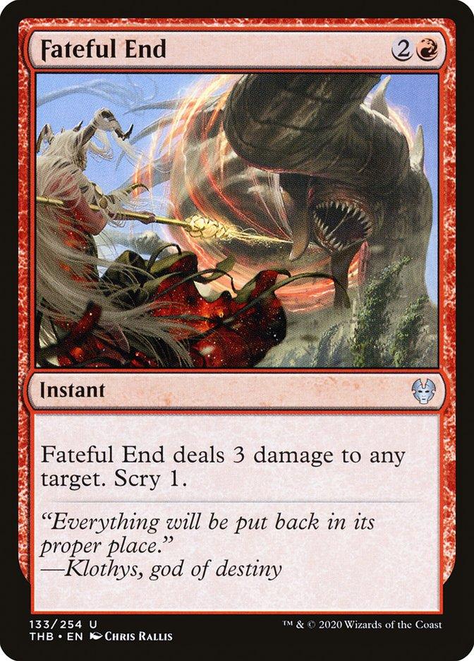 Carta Fim Fatídico/Fateful End de Magic the Gathering