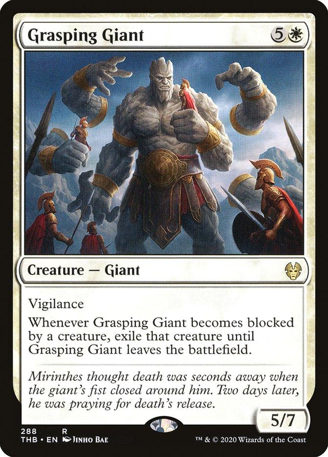 Carta Gigante Agarrador/Grasping Giant de Magic the Gathering