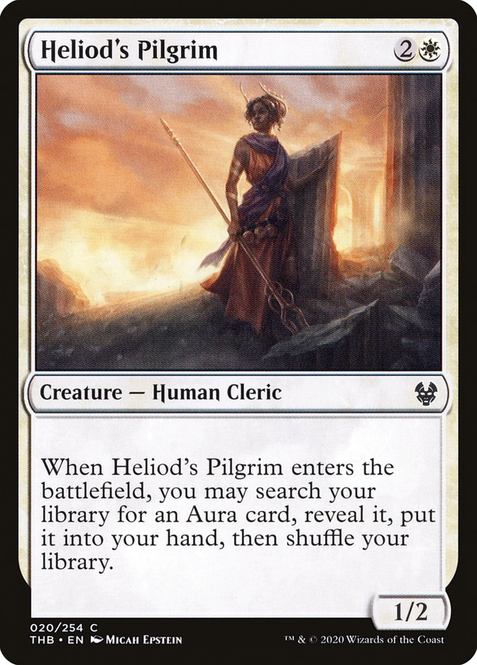 Carta Peregrina de Heliode/Heliod's Pilgrim de Magic the Gathering