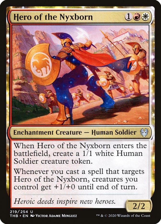 Carta Herói dos Nyxnatos/Hero of the Nyxborn de Magic the Gathering