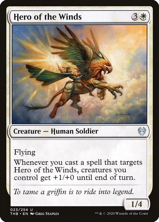 Carta Heroína dos Ventos/Hero of the Winds de Magic the Gathering