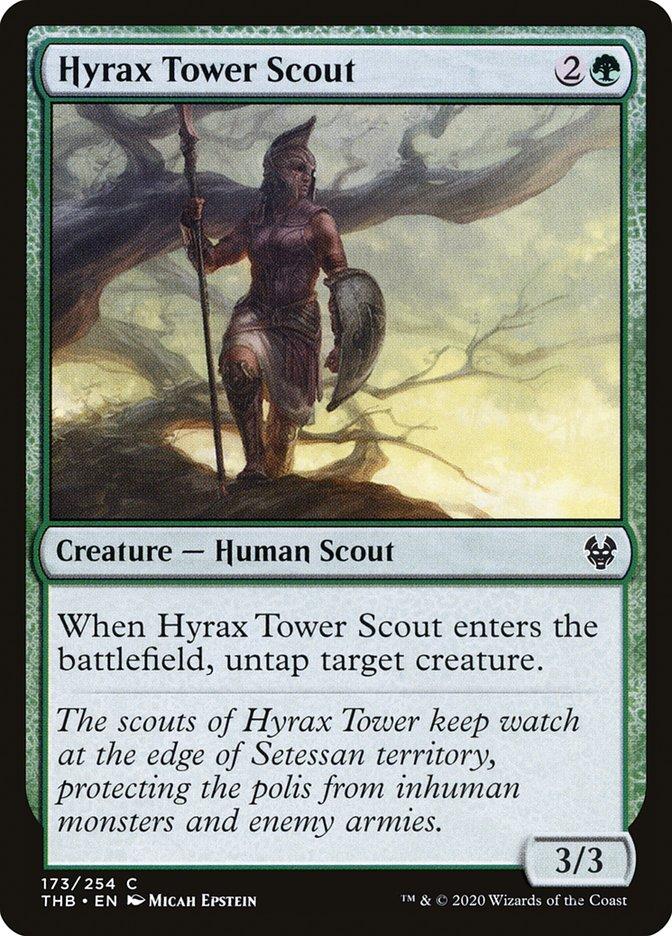 Carta Batedora da Torre de Hírax/Hyrax Tower Scout de Magic the Gathering