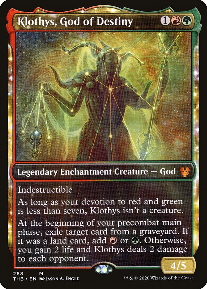 Carta Clotis, Deusa do Destino/Klothys, God of Destiny de Magic the Gathering