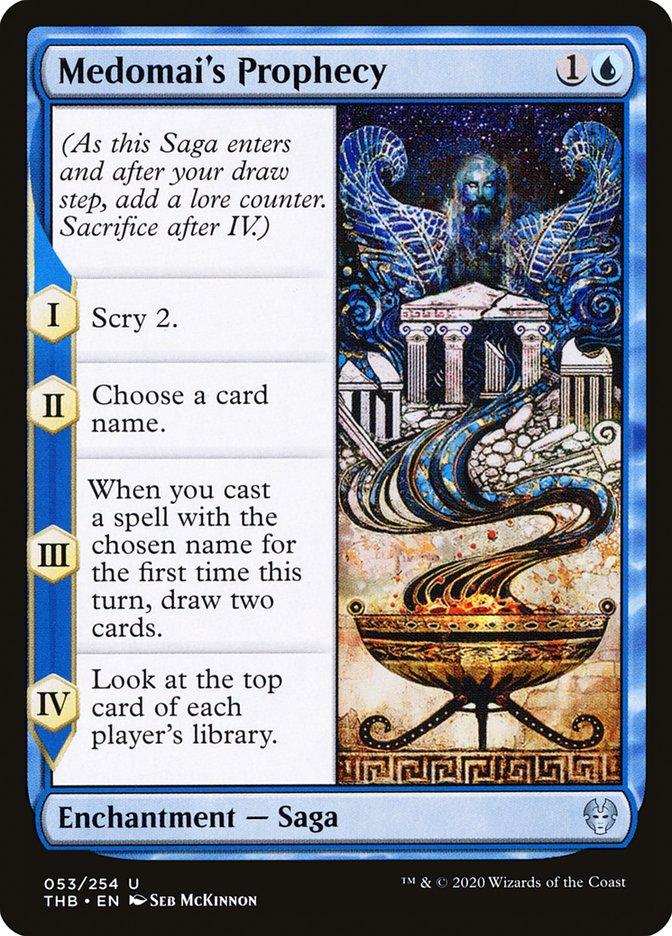 Carta Profecia de Medomai/Medomai's Prophecy de Magic the Gathering