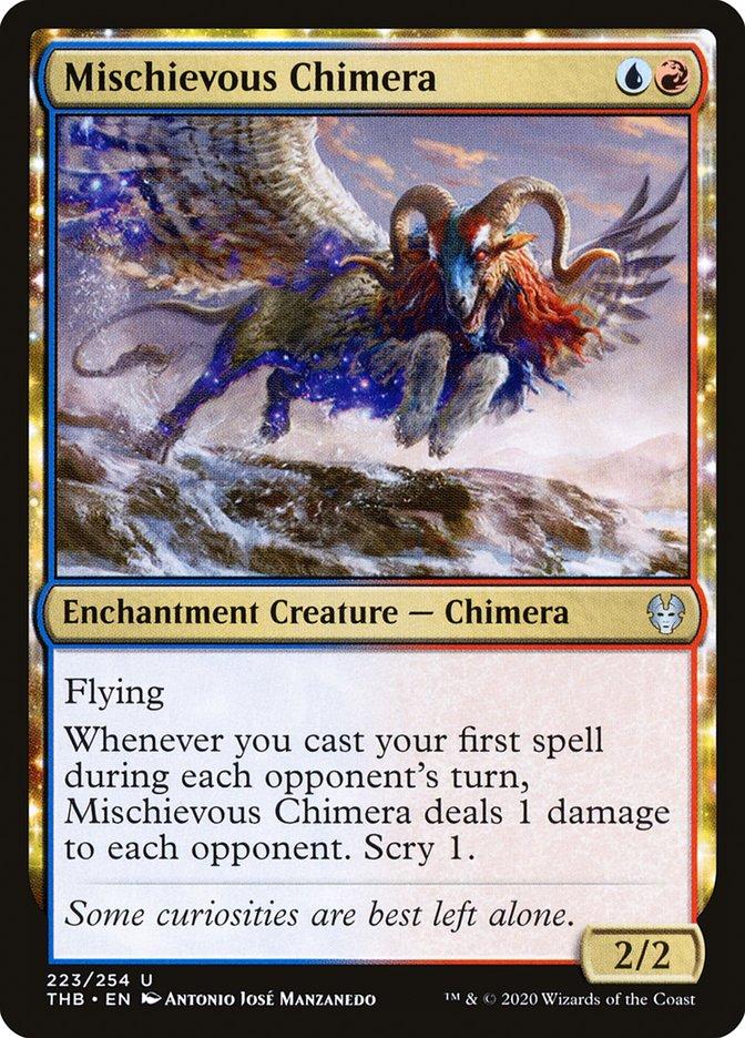 Carta Quimera Travessa/Mischievous Chimera de Magic the Gathering