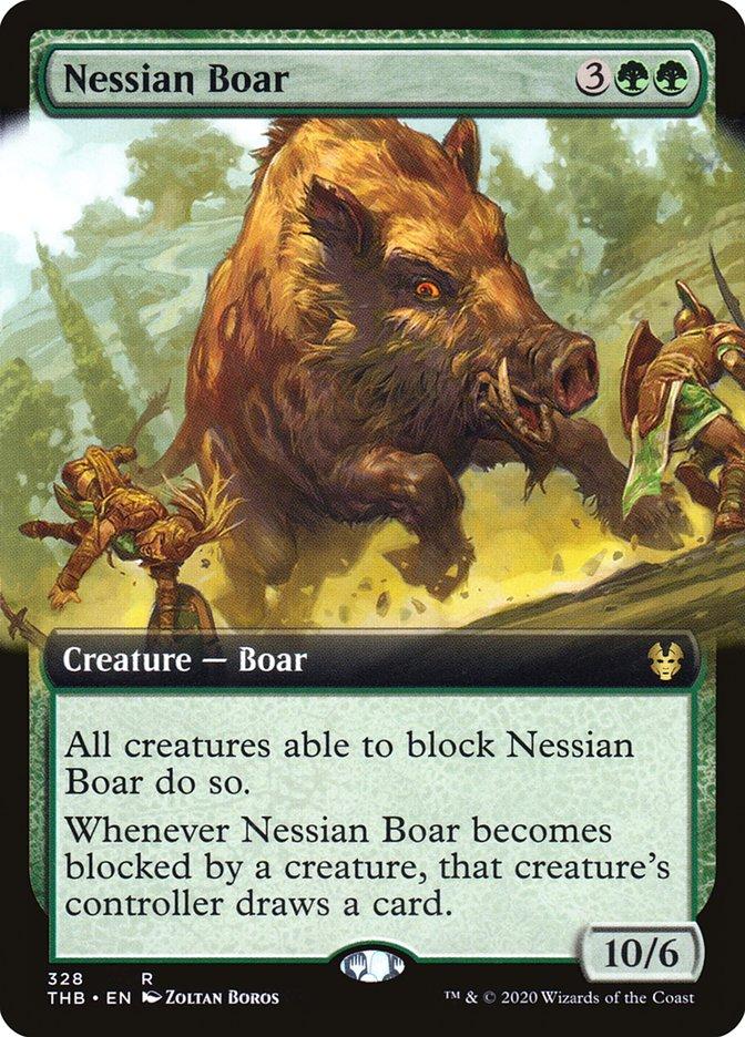 Carta Javali Nessiano/Nessian Boar de Magic the Gathering