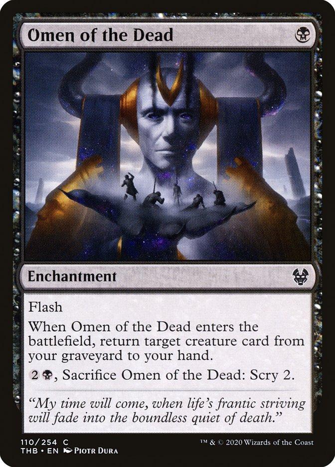 Carta Augúrio dos Mortos/Omen of the Dead de Magic the Gathering