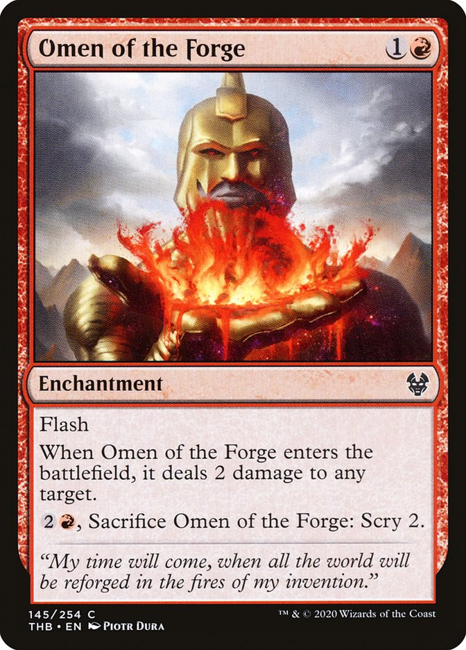Carta Augúrio da Forja/Omen of the Forge de Magic the Gathering