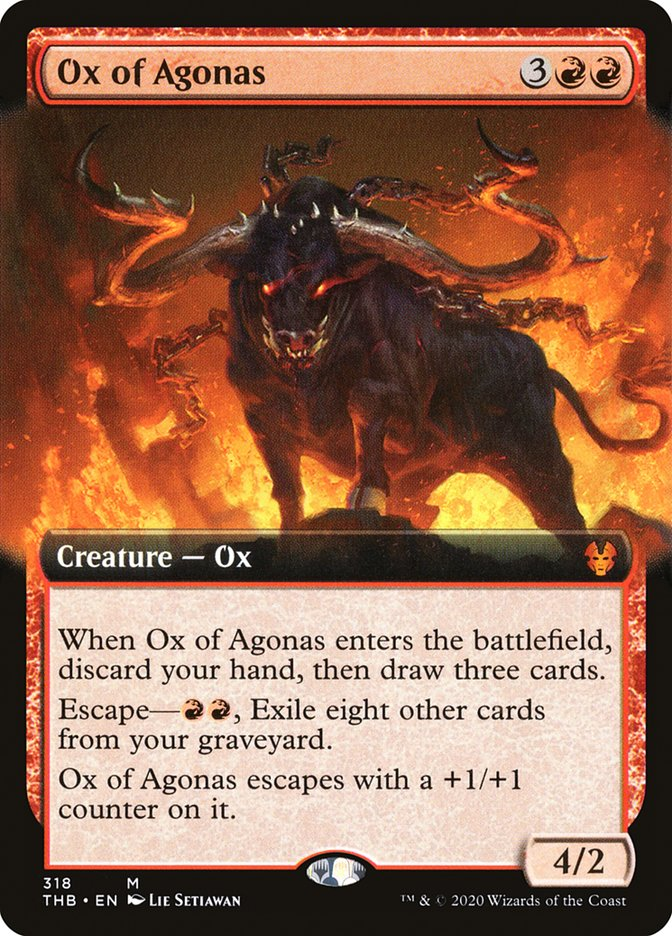 Carta Boi de Agonas/Ox of Agonas de Magic the Gathering