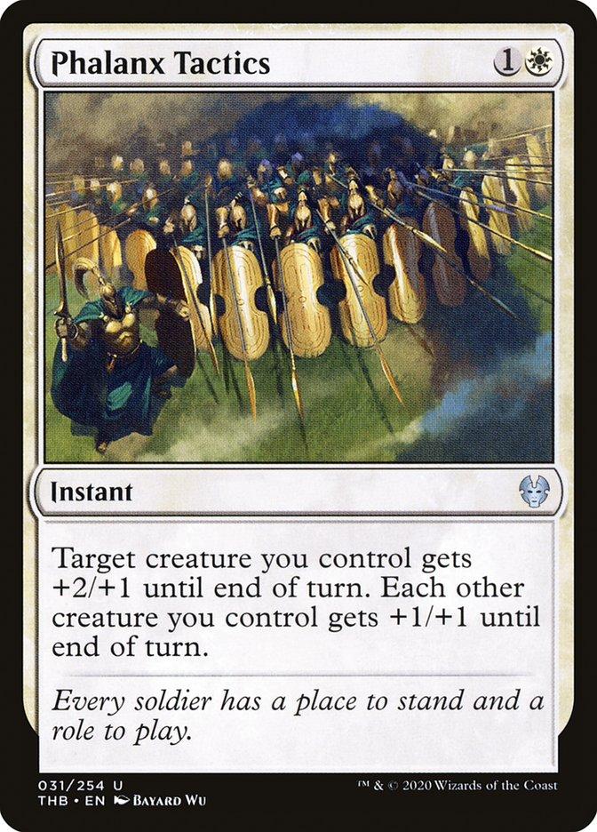 Carta Tática de Falange/Phalanx Tactics de Magic the Gathering