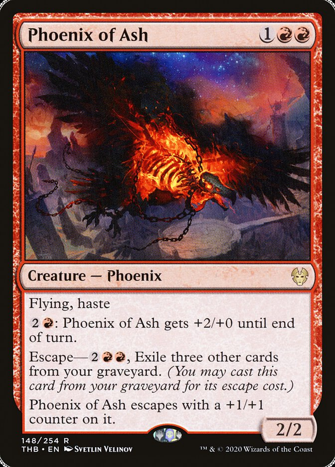 Carta Fênix de Cinzas/Phoenix of Ash de Magic the Gathering