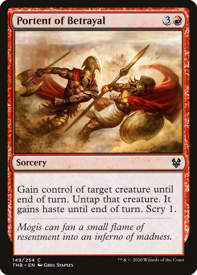 Carta Presságio de Traição/Portent of Betrayal de Magic the Gathering