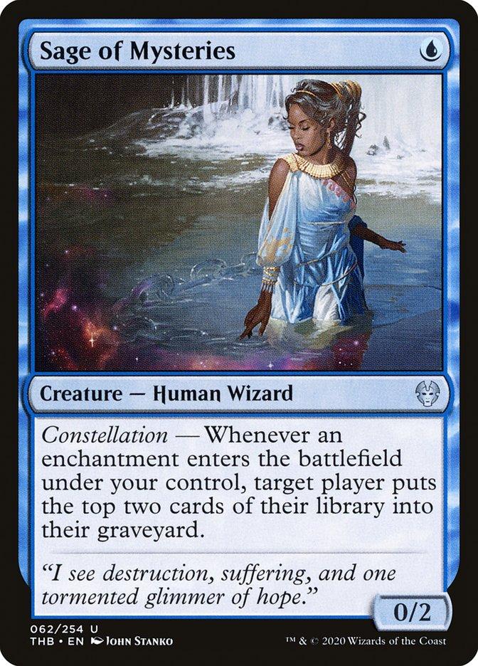 Carta Sábia dos Mistérios/Sage of Mysteries de Magic the Gathering