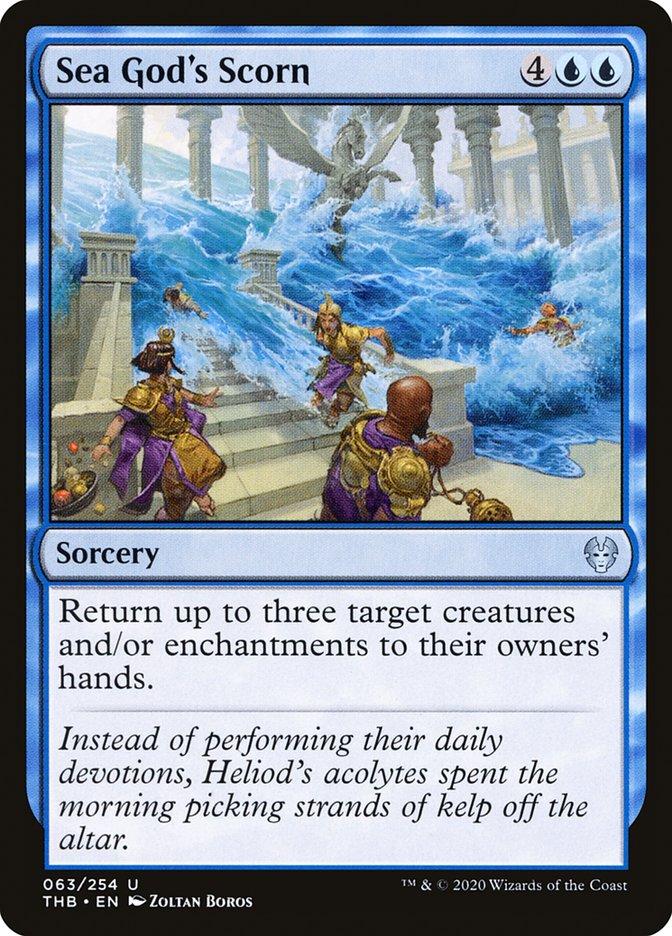 Carta Desprezo da Deusa do Mar/Sea God's Scorn de Magic the Gathering