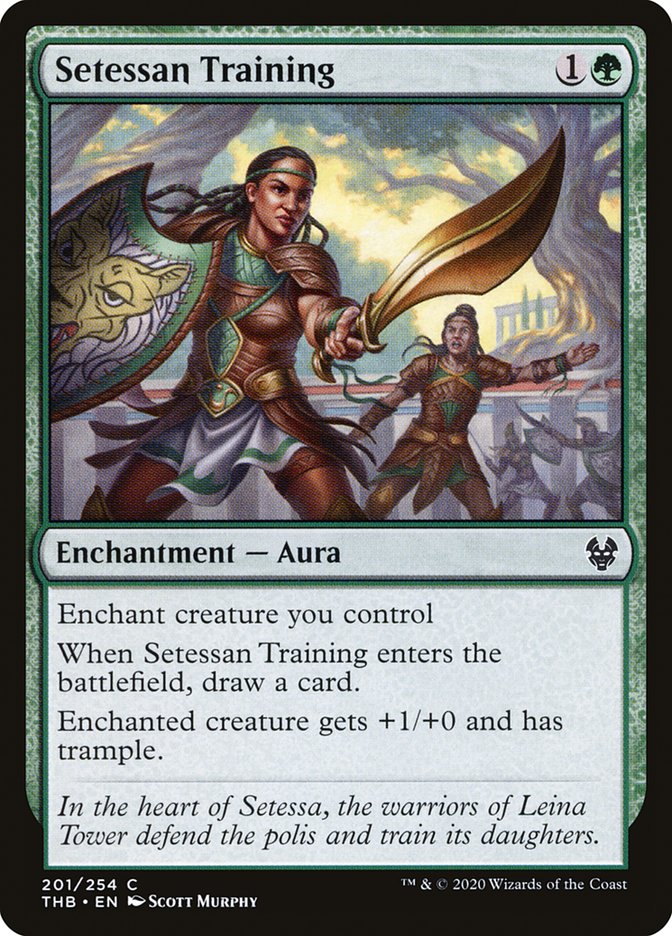 Carta Treinamento Setessano/Setessan Training de Magic the Gathering