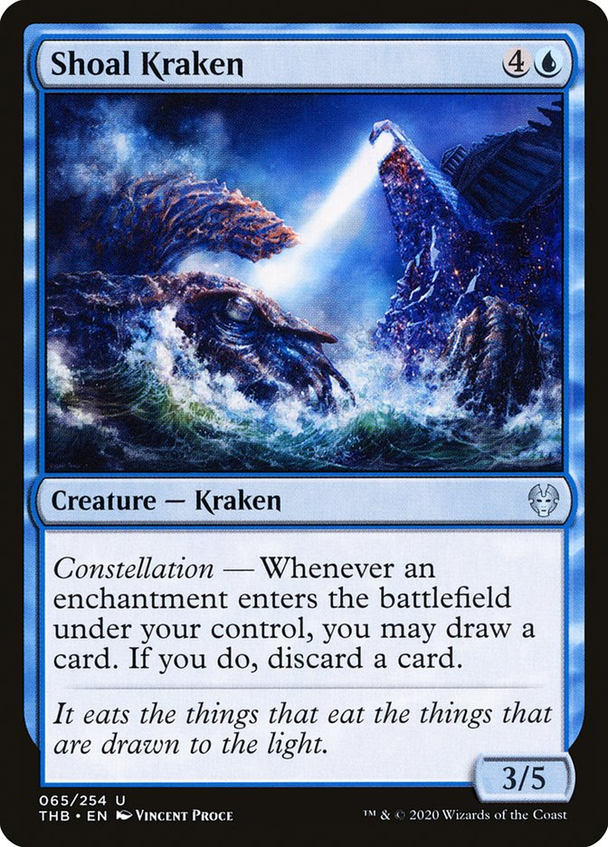 Carta Kraken do Baixio/Shoal Kraken de Magic the Gathering